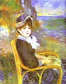 By the Seashore - Pierre Auguste Renoir reproduction oil painting