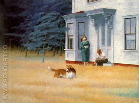 Cape Cod Evening - Edward Hopper reproduction oil painting