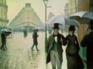 Paris Street Rainy Day 1877 - Gustave Caillebotte reproduction oil painting