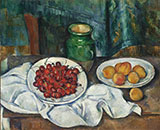 Still Life with Cherries and Peaches c1885 - Paul Cezanne reproduction oil painting