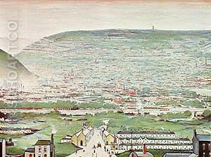 Ebbw Vale 1960 - L-S-Lowry reproduction oil painting