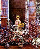 Camille Monet at the Window. - Claude Monet reproduction oil painting