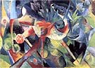 Deer in a Flower Garden - Franz Marc