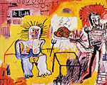 Arroz Con Pollo 1981 - Jean-Michel-Basquiat reproduction oil painting