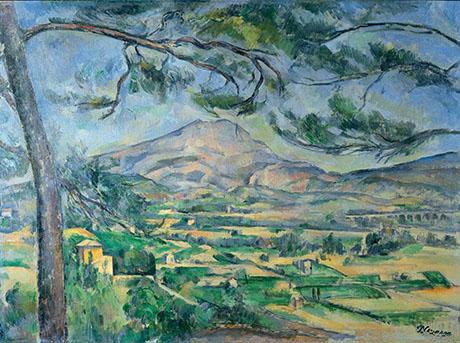 Mont Sainte-Victoire with Large Pine c1885 - Paul Cezanne reproduction oil painting