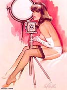 SMILE FOR THE CAMERA - Pin Ups reproduction oil painting