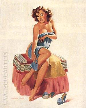 SUGAR 'N SPICE (Bass) - Pin Ups reproduction oil painting