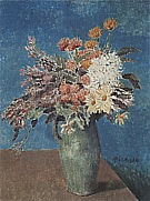 Vase of Flowers  1901 - Pablo Picasso reproduction oil painting