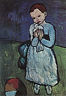 Child Holding a Dove  1901 - Pablo Picasso reproduction oil painting