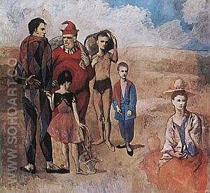 Family of Saltimbanques  1905 - Pablo Picasso reproduction oil painting