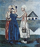 Three Dutch Girls  1905 - Pablo Picasso reproduction oil painting