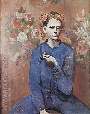 Boy with a Pipe - Pablo Picasso reproduction oil painting