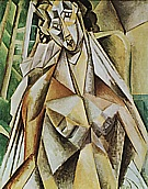 Nude in an Armchair (Seated Woman)  1909 - Pablo Picasso reproduction oil painting