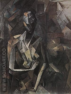 Seated Nude  1909-10 - Pablo Picasso reproduction oil painting