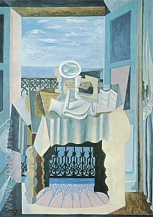 Open Window at St. Raphael  1919 - Pablo Picasso reproduction oil painting