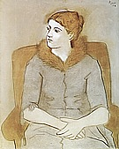 Portrait of Olga  1923 - Pablo Picasso reproduction oil painting