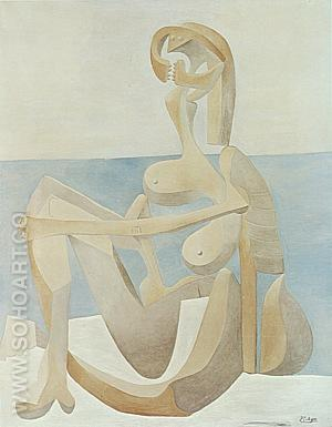 Seated Bather  1930 - Pablo Picasso reproduction oil painting