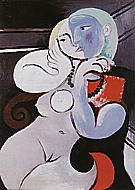 Nude Woman in a Red Armchair  1932 - Pablo Picasso reproduction oil painting