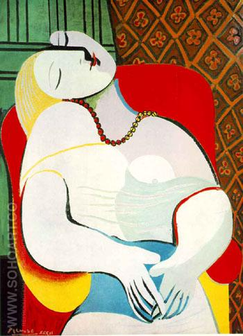 The Dream  1932 - Pablo Picasso reproduction oil painting