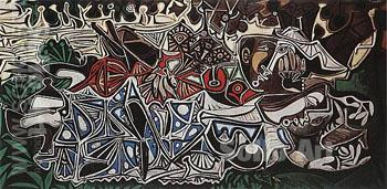 Woman on Banks of the Seine  1950 - Pablo Picasso reproduction oil painting