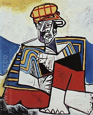 The Smoker  1953 - Pablo Picasso reproduction oil painting