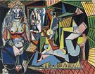 Women of Algiers, after Delacroix  1955 - Pablo Picasso reproduction oil painting