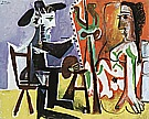 The Artist and his Model  1963 - Pablo Picasso reproduction oil painting