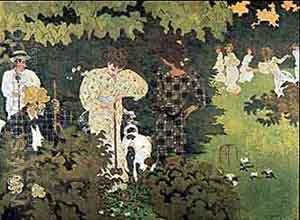 Twilight (The Croquet Party) - Pierre Bonnard reproduction oil painting