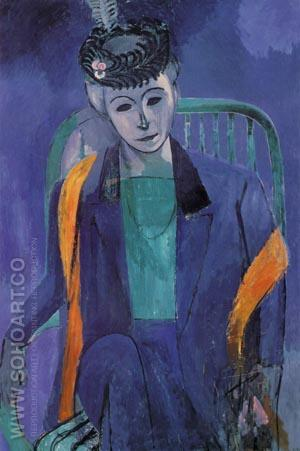 Madam Matisse - Henri Matisse reproduction oil painting