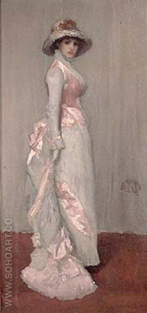 Harmony in Pink and Gray, Valerie, Lady Meux  1881 - James McNeill Whistler reproduction oil painting