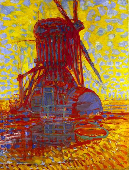 Windmill in Sunlight 1908 - Piet Mondrian reproduction oil painting