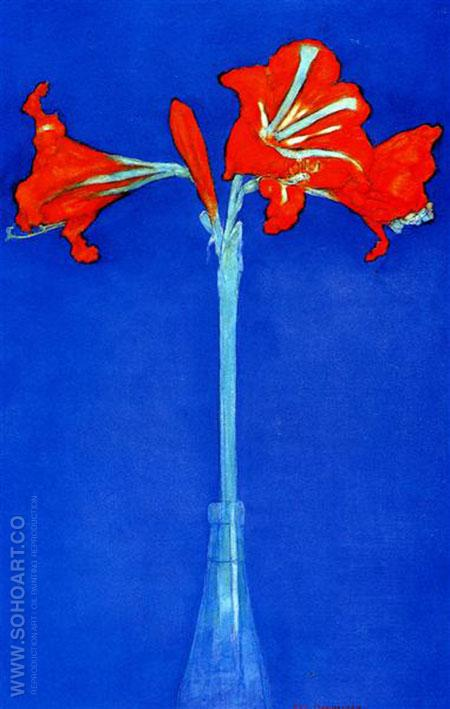 Amaryllis 1910 - Piet Mondrian reproduction oil painting