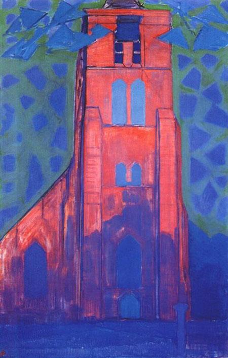 Church near Domburg c1910 - Piet Mondrian reproduction oil painting