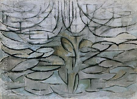 Apple Tree in Flower 1912 - Piet Mondrian reproduction oil painting