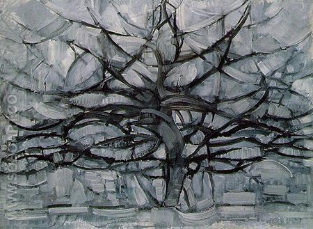 The Grey Tree 1912 - Piet Mondrian reproduction oil painting