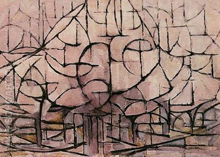 Trees in Blossom 1912 - Piet Mondrian reproduction oil painting