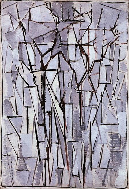 Composition Trees II 1912 - Piet Mondrian reproduction oil painting