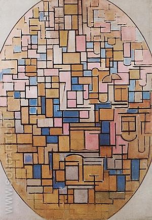 Tableau III 1914 - Piet Mondrian reproduction oil painting
