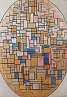 Tableau III 1914 - Piet Mondrian reproduction oil painting