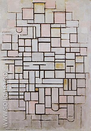 Composition No 6 1914 - Piet Mondrian reproduction oil painting
