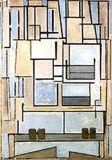 Composition No 9 Blue Facade c1913 - Piet Mondrian reproduction oil painting