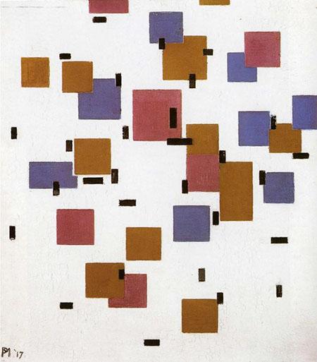 Composition in Colour A 1917 - Piet Mondrian reproduction oil painting