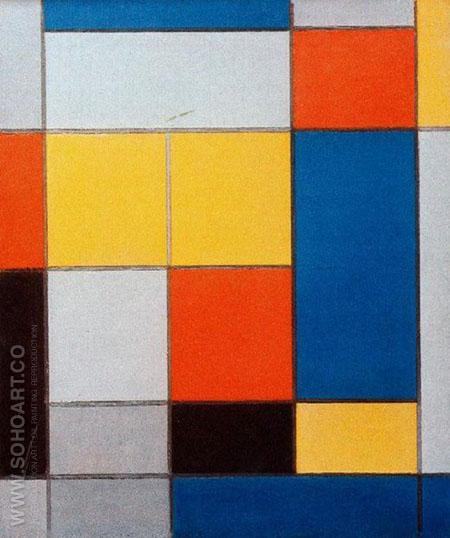 Composition with Red Blue and Yellow Green 1920 - Piet Mondrian reproduction oil painting