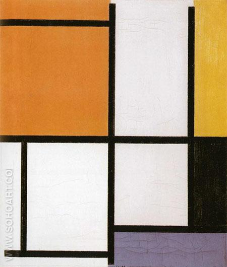 Composition 1921 - Piet Mondrian reproduction oil painting