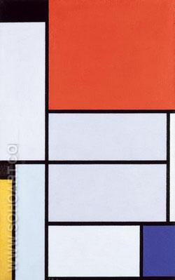 Tableau I 1921 - Piet Mondrian reproduction oil painting