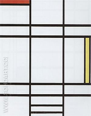 Composition with White Red and Yellow c1938 - Piet Mondrian reproduction oil painting