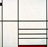 Composition with Red and Black 1936 - Piet Mondrian reproduction oil painting