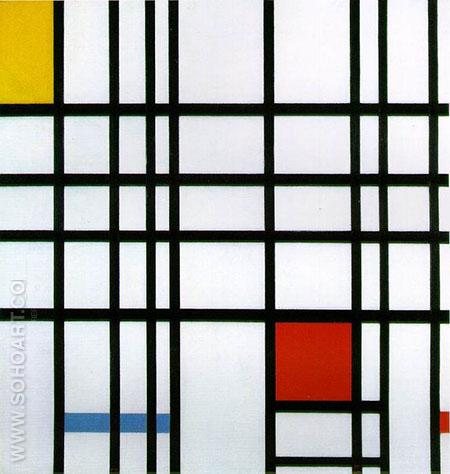 Composition with Red Yellow and Blue c1939 - Piet Mondrian reproduction oil painting