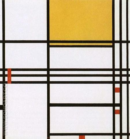 Composition with Black White Yellow and Red c1939 - Piet Mondrian reproduction oil painting