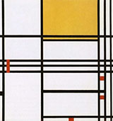 Composition with Black White Yellow and Red c1939 - Piet Mondrian